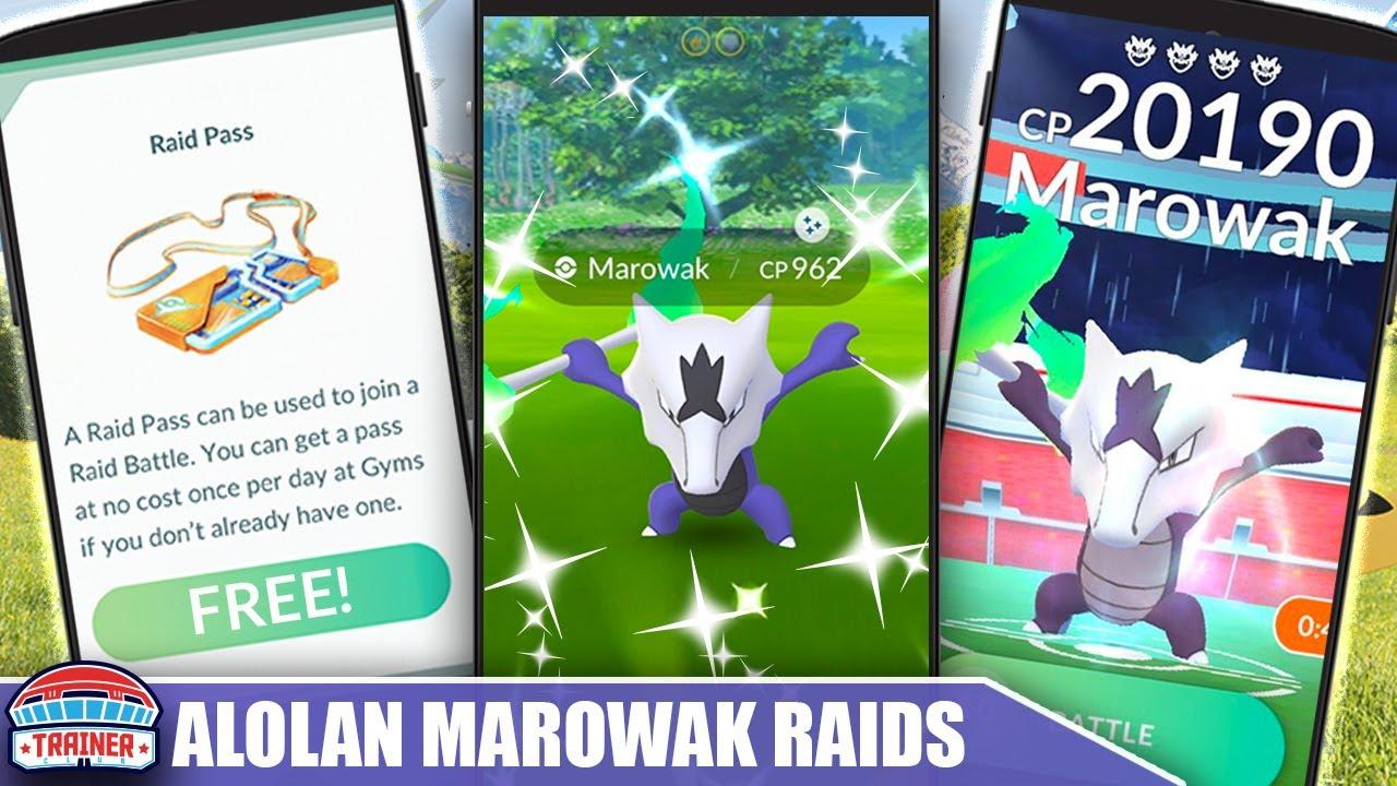5 FREE PASSES & ALOLAN MAROWAK SHINY! TIPS & COUNTER GUIDE TO MAX HALLOWEEN RAID DAY | Pokémon GO