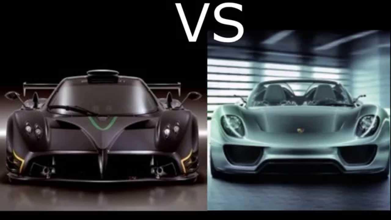 Porsche 918 spyder vs Pagani Zonda R Acceleration - YouTube