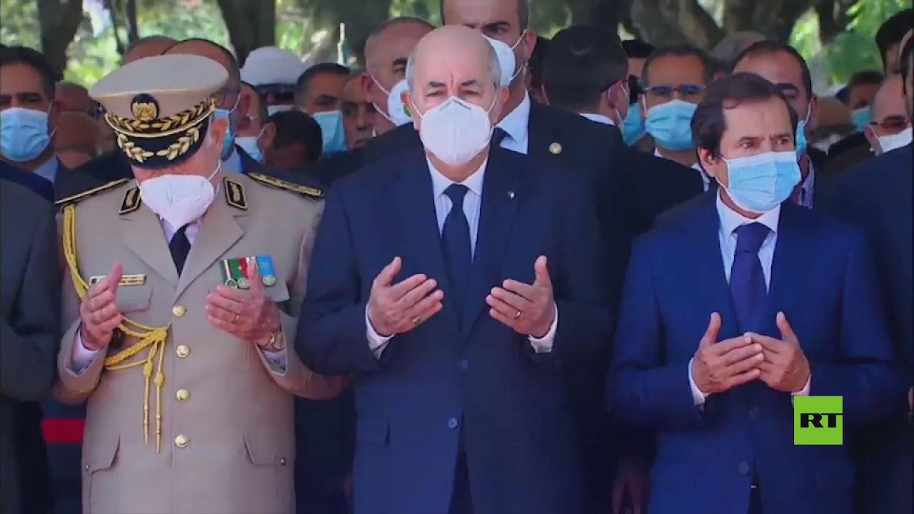 عبد المجيد تبون يشارك في مراسم دفن عبد العزيز بوتفليقة