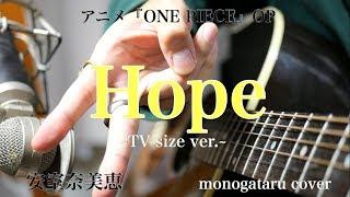 【歌詞付き】 hope ~tv size ver.~ (アニメ『one piece』op) - 安室奈美恵 (monogataru cover)