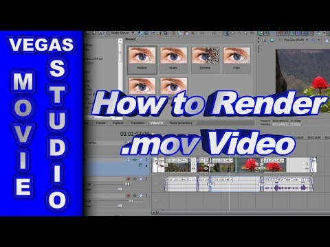 how-to-render-a-.mov-video-using-sony-vegas-movie-studio