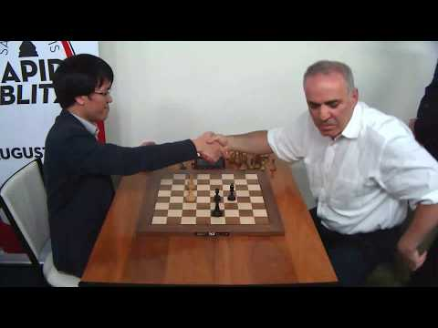 Amazing Big Kasparov Did Not Let His Clock Come Down From 5 Second