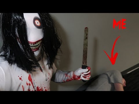 JEFF THE KILLER CAME AFTER ME WITH A KNIFE!! *I COULD HAVE DIED*