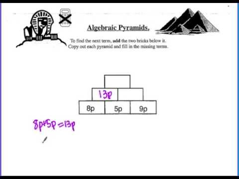Algebraic Pyramid Exercise