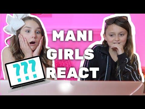REACTING TO MY VLOGS w/MANI girls | Piper Rockelle