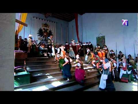 Rothenburg ob der Tauber historisches Stadtfest mit Meistertrunk und Schäfertanz