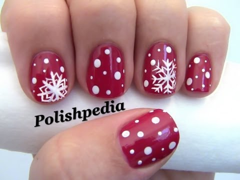 Snowflake nail art youtube snowflake nail art prinsesfo Choice Image