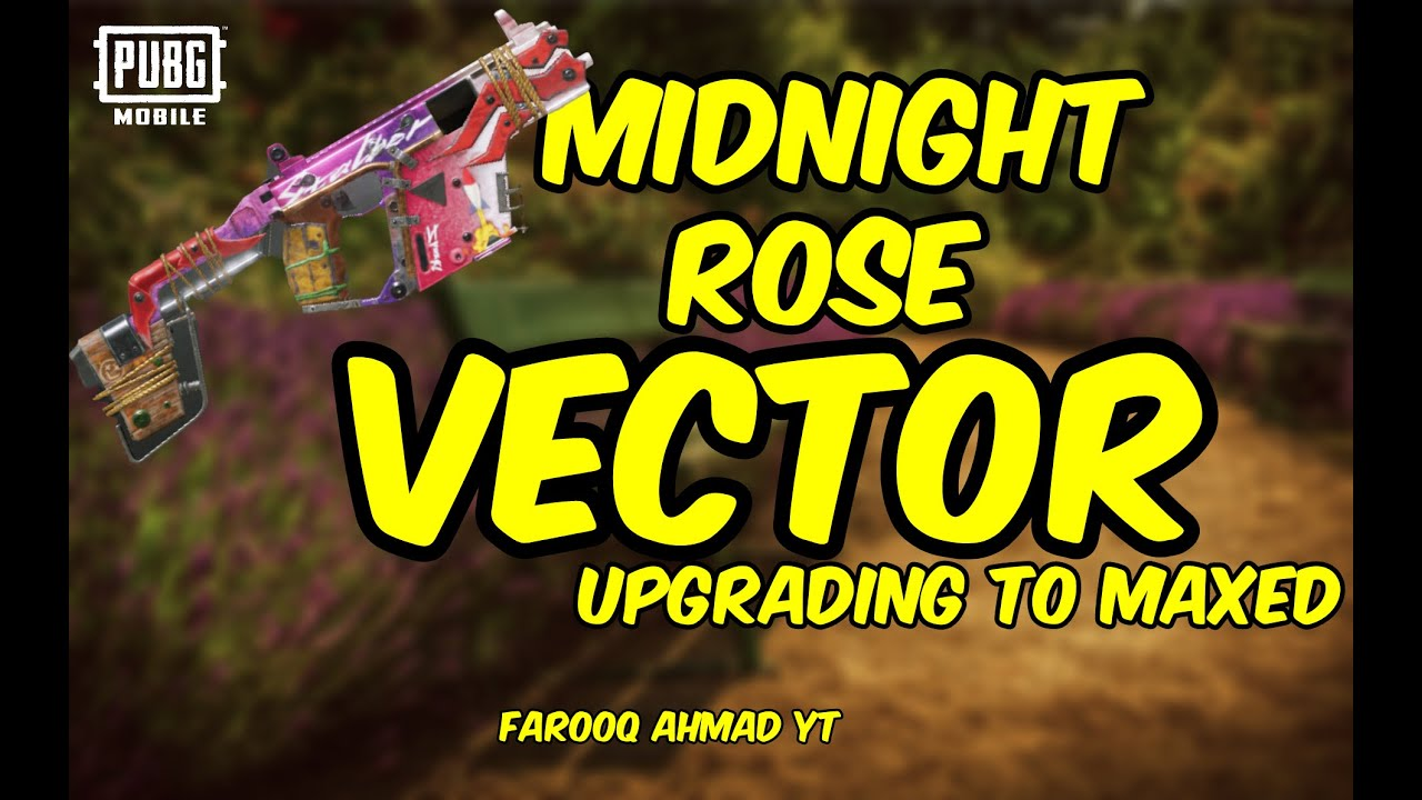 Midnight Rose Vector Gun Skin | Upgraded Max Level 5 | 🔥 PUBG Mobile 🔥