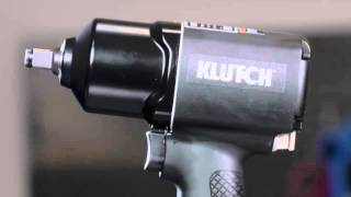 Klutch Air Impact Wrench - 1/2in. Drive, 4 CFM, 980 Ft.-Lbs. Torque