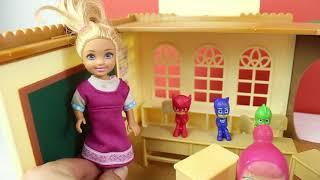 Pijamaskeliler Ve Masha Okula Gidiyor Baykuş Kız Kertenkele Ve Kedi Çocuk Oyun Oynuyor
