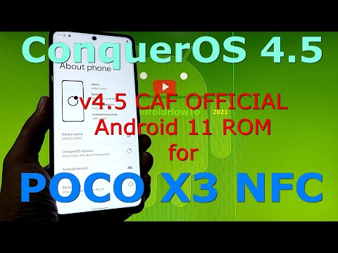 ConquerOS 4.5 CAF OFFICIAL for Poco X3 NFC (Surya)