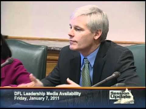 House Minority Leader Paul Thissen responds to questions on nuclear power