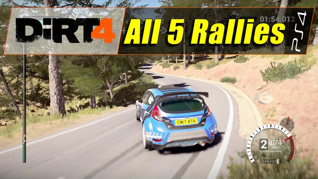 dirt 4 ps4 all rallies 1080 60 youtube. Black Bedroom Furniture Sets. Home Design Ideas