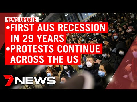 7NEWS Update Wednesday, June 3: Australia Records First Recession In 29 Years, US Riots | 7NEWS