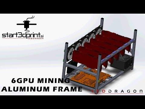 6 GPU Mining Aluminium Open Frame Presentation
