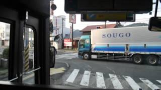【前面展望】岩国駅~錦帯橋~広島バスセンター【いわくにバス・高速広島線】