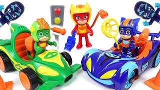 Ninjas stole the cars! PJ Masks race into the night cars appeared with Paw Patrol - DuDuPopTOY