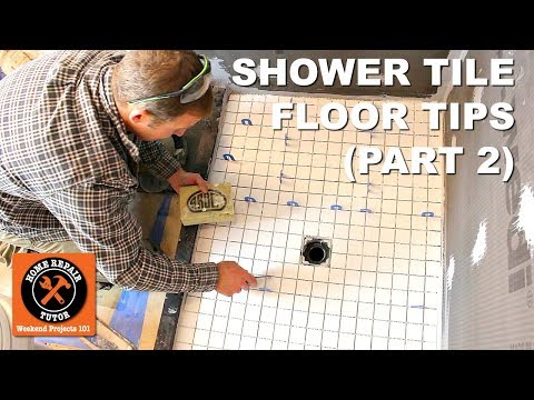 how-to-tile-a-shower-floor-(part-2:-setting-2x2-tiles)