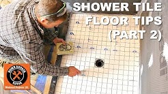 How to Tile a Shower Floor (Part 2: Setting 2x2 Tiles)