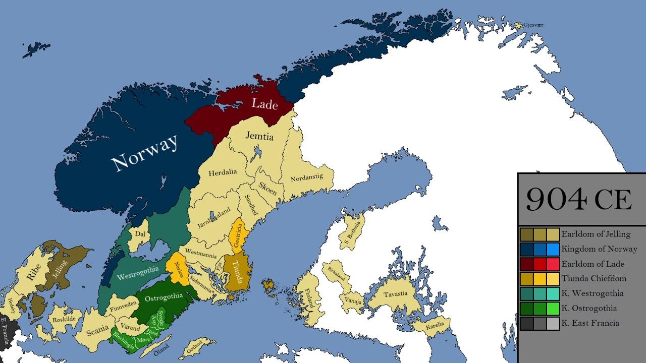 map of europe viking age The Viking Age: Every Year   YouTube