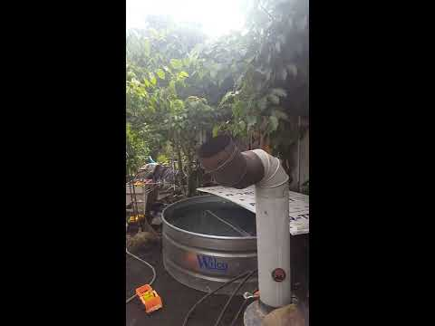Quick tour of my wood fired hot tub