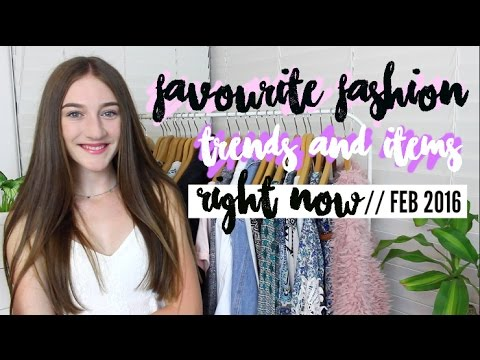 FAVOURITE FASHION TRENDS & ITEMS RIGHT NOW // HAUL 2016