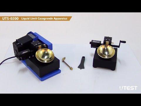 UTS 0200, Liquid Limit Casagrande Apparatus, EN