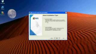 Installing Free Antivirus program from AVG