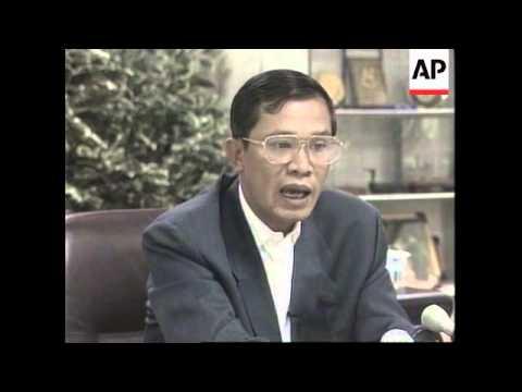 CAMBODIA:  PRIME MINISTER HUN SEN INTERVIEWED