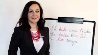 Німецька - супер уроки! Deutsch. Дієслово haben. Онлайн школа Mandarin.