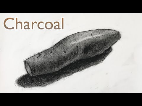 Charcoal Drawing Lesson for beginners Step by Step