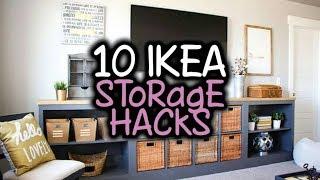 10 IKEA Storage Hacks - Storage Solutions With IKEA Products
