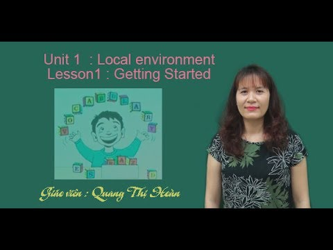 Unit1: Local environment   –   Lesson1 : Getting Started – Tiếng Anh 9