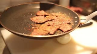 istanbul street food | traditional turkish tapas - fried liver (ciger tava)  | turkey street food