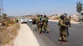 Violent Arrests Of Palestinians And Internationals In Al-Masara