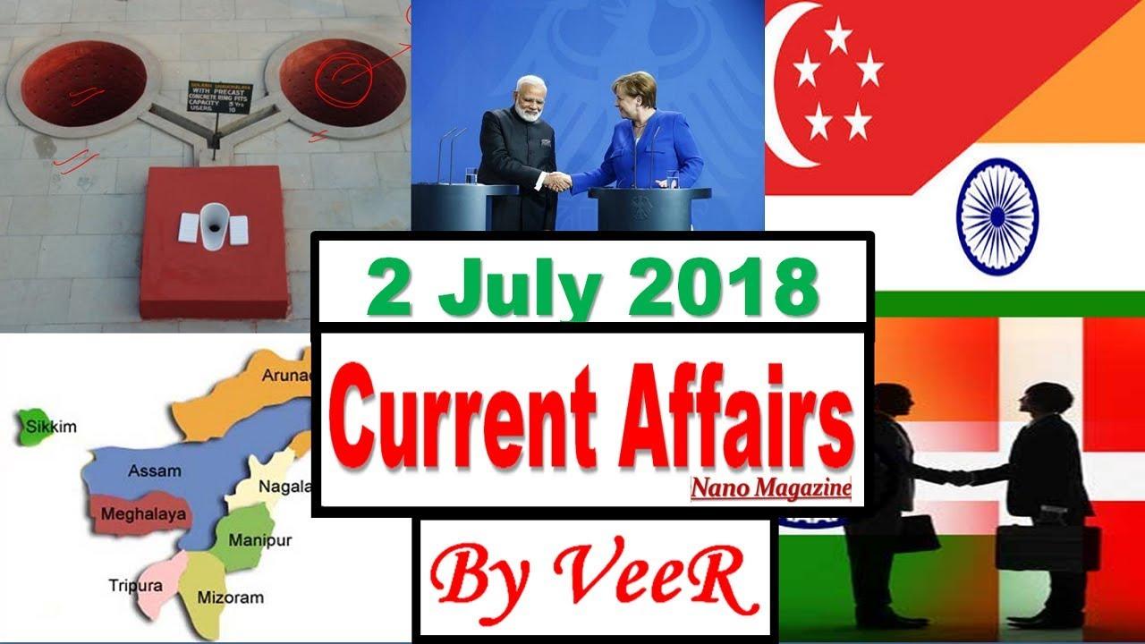 2 July 2018 - Current Affairs -The Hindu, PIB, Indian Express, Yojana,  News- Nano Magazine- By VeeR