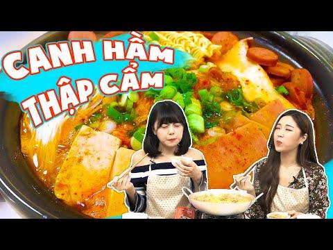 """Con gái Hàn Quốc trổ tài nấu món """"Canh Quốc Dân"""" Canh Hầm Thập Cẩm !!   JUJU tập nấu món ăn Hàn Quốc"""