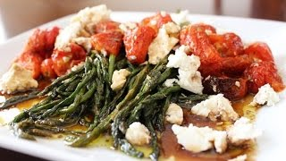 Roasted Asparagus With Feta & Tomatoes