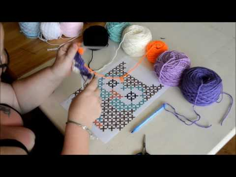 Graphgan c2c part 1 -Crochet- Tutorial – English