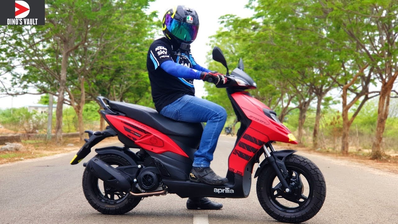 Aprilia Storm 125 Review Does 120+ kmph Top Speed #ScooterFest - YouTube