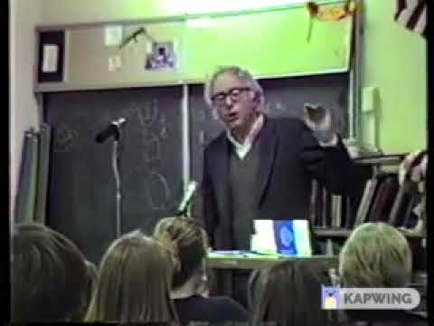 Bernie Sanders talks to Edmunds Middle School