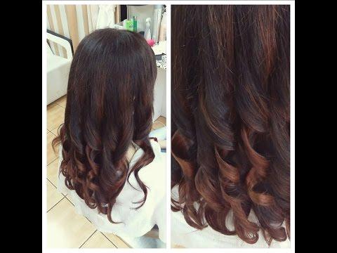 Модный цвет волос омбре на темные волосы