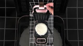 와플기계로 오뚜기밥 햇반 누르는 영상 | 미닛와플 Mi…