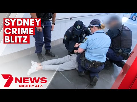 Sydney police charge over 200 people during knife crime blitz   7NEWS