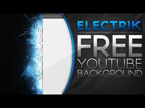 Free YouTube Backgrounds - Electrik YouTube Background (With PSD) | www.gric.ro
