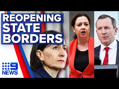 Experts, Premiers at odds over reopening borders | Nine News Australia