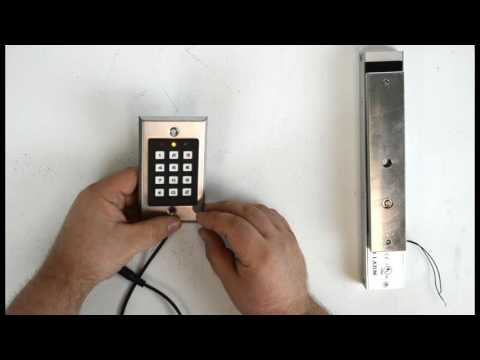 How To Control A Magnetic Lock From A Keypad Youtube