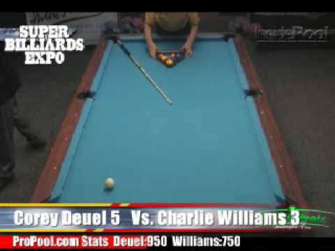 Corey Deuel v Charlie Williams at the Super Billiards Expo