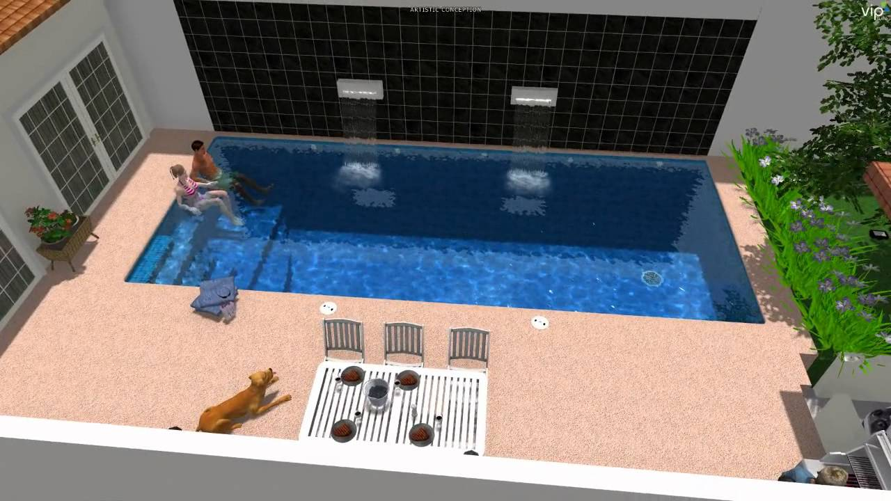 Alberca rectangular en colima albercas aquasol youtube for Alberca 8 x 5