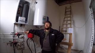 видео Запуск газового котла и настройка работы отопительной системы